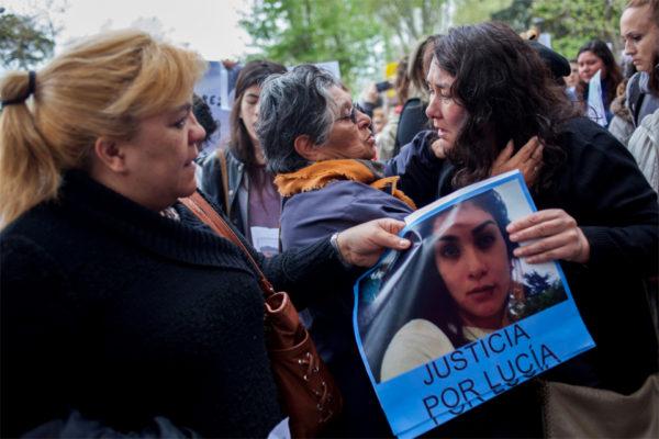 Marcha por el femicidio de Lucía Pérez en Mar del Plata. Fotografía: Telam
